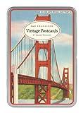 Cavallini San Francisco Carte Postale, 18 Postcards per Tin