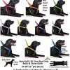 Dexil Limited Adopt ME (I Need A New Home) Yellow Color Coded Non-Pull Front and Back D Ring Padded and Waterproof Vest Dog Harness Prevents Accidents by Warning Others of Your Dog in Advance 8
