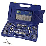IRWIN Tap And Die Set with Drill Bits, Machine Screw/SAE/Metric, 117-Piece (26377)