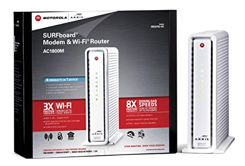 Motorola SURFboard eXtreme  Cable Modem  & Wi-Fi AC Router with MoCA Networking for Comcast, Time Warner, Cox, Charter, Suddenlink, Mediacom (SBG6782-AC)