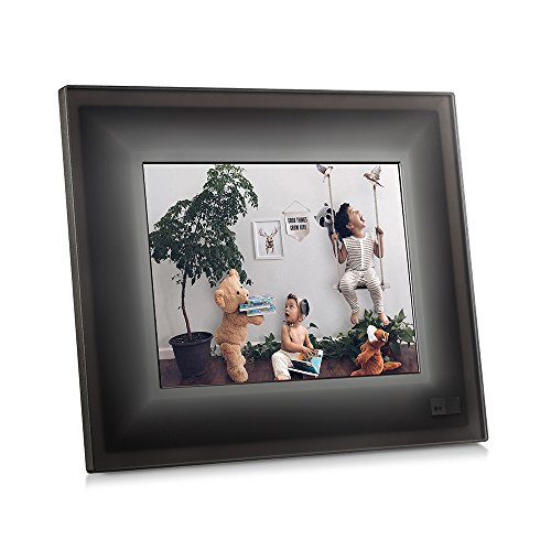 Aura Smart Picture Frame- Charcoal with Black Trim