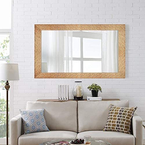 Amazon Com Hans Alice Large Wall Mirror For Bathroom Bedroom Living Room Hanging Horizontal Or Vertical Dressing Or Full Length Mirror Commercial Grade 90 Cri 47 X 28 Furniture Decor