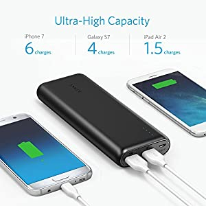 Anker PowerCore Speed 20000, 20000mAh Qualcomm Quick Charge 3.0 & PowerIQ Portable Charger, with Quick Charge Recharging, Power Bank for Samsung, iPhone, iPad and More