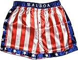 Rocky Balboa Apollo Movie Boxing American Flag Shorts (Large)
