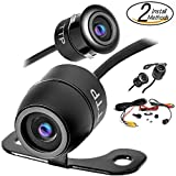 Upgraded Hidden Mini Backup Camera 170° Viewing Angle Multi-Function Car Reversing Rear View/Side View/Front View & Security Pinhole Spy Camera (TTP-C12B)