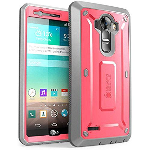 LG G4 Case, SUPCASE Full-Body Rugged Holster Case with Built-in Screen Protector for LG G4 2015 Release, Unicorn Beetle PRO Series - Retail Package (Pink/Gray)