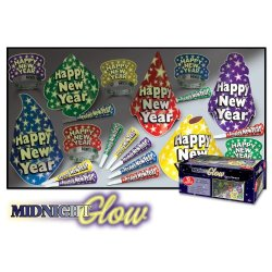 Beistle 88796-10 1-Pack Decorative Midnight Glow Party Assortments for 10 People