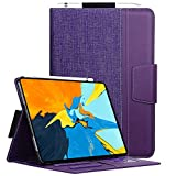 Toplive iPad Pro 11 Case (2018), [Support Apple Pencil Charging] Canvas Stand Folio Case Cover for Apple iPad Pro 11 inch 2018 with Auto Sleep Wake Function and Multiple Viewing Angles, Purple