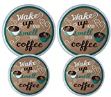 Set of 4 Electric Stove Burner Covers (Wake Up)