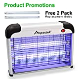 Aspectek UPGRADED 20W Electronic Bug Zapper, Insect Killer - Mosquito, Fly, Moth, Wasp, Beetle & other pests Killer for Indoor Residential & Commercial