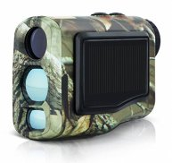 LaserWorks 600m Solar Power Laser Rangefinder for Hunting Golf,Fog measurement,Waterproof (Camouflage)