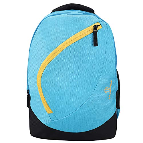 51a81K P+uL - TRAGGAGE Casual Backpack Bag 30 Litre, Waterproof Unisex School, Office, Laptop Bag/Backpack for Men/Women/Boys/Girls College Students Travel Bagpack with 2 Compartmetns, 18 Inches - Sky Blue