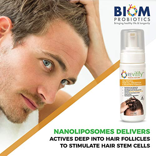 Revitify Probiotic Hair Growth Serum for Men and Women -Blocks DHT and Revives Follicle Growth - Formulated Hair Treatment to Prevent Hair Loss and Regrow Hair-Contains Biotin+Biomsify Formula. (1T) 8
