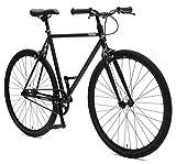 Retrospec Critical Cycles Harper Single-Speed Fixed Gear Urban Commuter Bike; 57cm, Matte Black