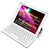 Inateck iPad Keyboard Case for 9.7' iPad 2018(Gen 6)/iPad 2017(Gen 5) and iPad Air 1 with Intelligent Magnetic Switch iPad Keyboard Cover,Light Grey