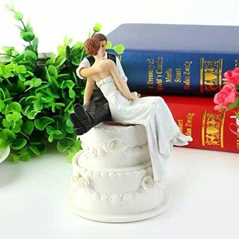 Cake Topper Sposo e Sposa seduti