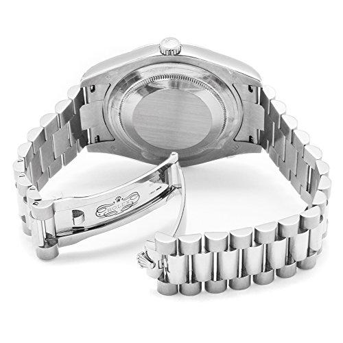 83379a84cef7 Rolex Men s Day-Date II Automatic White Diamond Black Dial President 18k  Solid White Gold