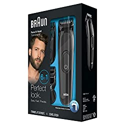 Braun MGK3020 Men's Beard Trimmer for Hair/Hair Clippers/Head Trimming, Grooming Kit, 6-in1 Precision Trimmer, 13 Length Settings for Ultimate Precision  Image 5
