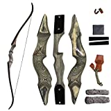 SinoArt 58' Takedown Recurve Bow Archery Right Handed Riser Bow for Hunting Target Shooting 30-60Lbs (50lbs)