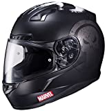 HJC Helmets Marvel CL-17 Unisex-Adult Full Face THE PUNISHER Street Motorcycle Helmet (Black/White, X-Large)