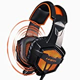 LETTON G1 3.5mm Wired Stereo Lightweight Over Ear Gaming headset Headphones with Microphone PU Ear-pad for PC(Black)