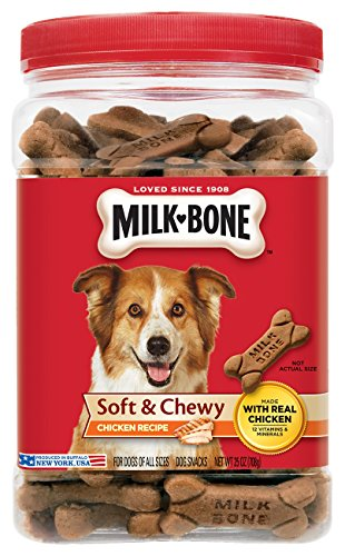 Milk-Bone Soft and Chewy Chicken Bones Treats For Dogs (25 oz) 1