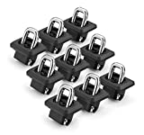 Bull Ring 1001-9 Pack for 2007-2019 Silverado & Sierra / 2015-2019 Colorado & Canyon Retractable Truck Bed Side Wall Tie Down Anchors Fits in 9 Holes in Bed- 3 Down Each Side, 3 Across The Front