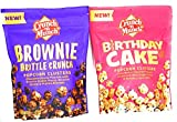 Birthday Cake and Brownie Brittle Crunch Popcorn Variety Bundle Snack Pack 5.5oz Bags