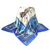 """Product review for 35"""" Women's Neckerchief Square Scarf Silk Feeling Polyester Satin Hijabs Bandanas"""