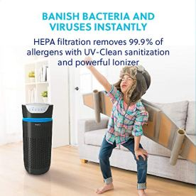 HoMedics-TotalClean-Tower-Air-Purifier-for-Viruses-Bacteria-Allergens-Dust-Germs-HEPA-Filter-UV-C-Technology-5-in-1-Purifying-with-Ionizer-Carbon-Odor-Filter-for-Medium-sized-Rooms-Home-Office-Black