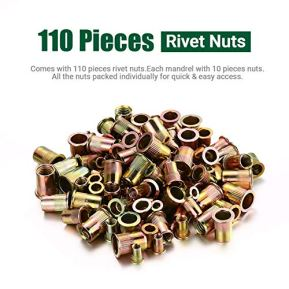 17-Rivet-Nut-Tool-Automatically-Nut-Eject-Labor-Saving-Leverage-Structure-7-Metric-4-SAE-Mandrels110-Nuts-Case-Packaging-Autlead-Nut-Riveter