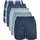 Gildan Men's Woven Boxer Underwear Multipack, Assorted Navy, Small