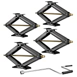 RecPro Set of 4 5000 lb 30' RV Trailer Stabilizer Leveling Scissor Jacks w/Handle