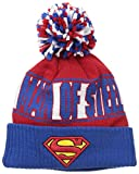 New Era Cap Men's Superman Rep UR Team Knit Cap, Red/Blue, One Size