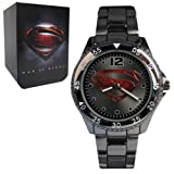 Superman Man of Steel Logo Gunmetal Bracelet Watch