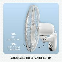 Hurricane-Wall-Mount-Fan-16-Inch-Classic-Series-90-Degree-Oscillation-3-Speed-Settings-Adjustable-Tilt-ETL-Listed-16-Inch-White