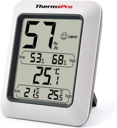 Un simple hygromètre permettra de mesurer le taux d'humidité de votre sous sol