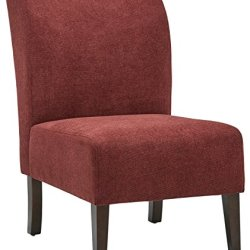 Amazon Brand – Stone & Beam Lummi Modern Armless Slipper Accent Chair, 21.6″W, Chianti