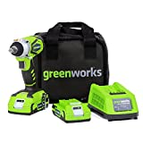 Greenworks 24V Cordless Impact Wrench, Two 2.0 AH Batteries Included 3800302