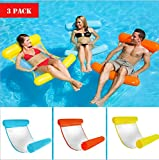 Floating Water Hammock Floatation Cushion Beach Pool Lounge Floats for Adults Floating Devices (Blue+Red+Yellow)