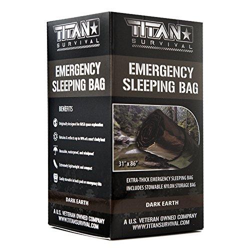 Titan Emergency Sleeping Bag/Thermal Bivy | Dark-Earth | PE, 36' x 78'