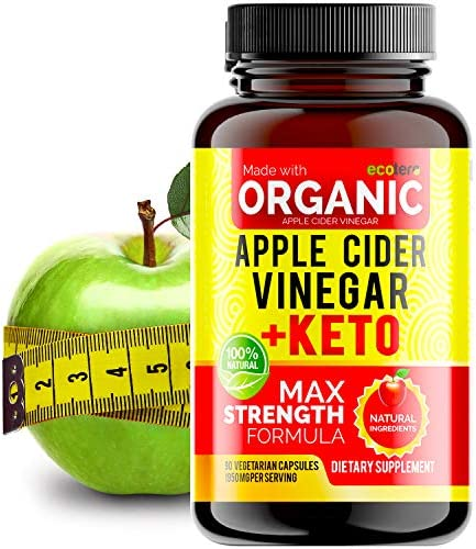 Apple Cider Vinegar Capsules with Mother + Keto BHB (High Potency 1950 mg), Keto Weight Loss Pills - Apple Cider Vinegar Pills for Weight Loss, Keto Pills Weight Loss, Keto Supplement 3