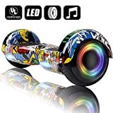 VEVELINE Hoverboard UL2272 Certified 6.5 inch Self Balancing Scooter with Colorful Flash Wheel Top LED Light,...