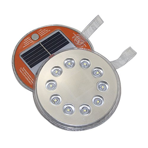 Anytime Light by TrekUltra Solar LED Emergency Light - Magnetic for Indoor Outdoor Use Weatherproof Ultra - Bright LED - Great for Survival Kits Camping Roadside Emergencies and More