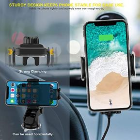 ZeeHoo-Wireless-Car-Charger10W-Qi-Fast-Charging-Auto-Clamping-Car-MountWindshield-Dash-Air-Vent-Phone-Holder-Compatible-iPhone-1111-Pro11-Pro-MaxXs-MAXXSXRX88Samsung-S10S10S9S9S8S8