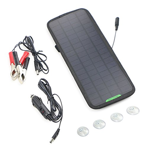 MTTLS Solar Panel 18V 12V 7.5W Portable Solar Car Boat Power Battery Charger Maintainer for Automobile Motorcycle Tractor Boat RV Batteries
