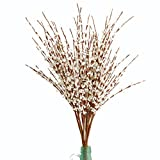 MISSWARM 10 Pieces 29.5' Long of Jasmine Artificial Flower Artificial Flowers Fake Flower for Wedding Home Office Party Hotel Restaurant Patio or Yard Decoration(White)