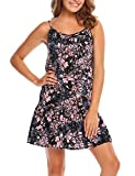 Product review for Zeagoo Women's Casual Floral Print Sleeveless Flower Style Ruffled Mini Dress