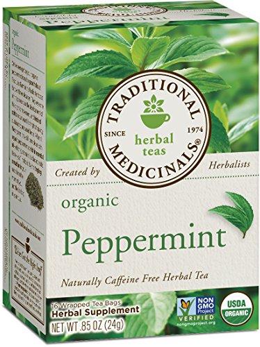 Traditional Medicinals Organic Peppermint Herbal Leaf Tea, 16 Tea Bags (Pack of 6)