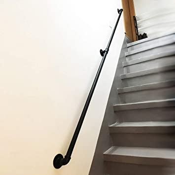 Afdk Handrails For Indoor Stairs Handrails For Outdoor Steps Wall   Wall Mounted Handrail For Stairs   Stair Interior   Brushed Nickel   Thin Glass   Attached Wall   Mounting
